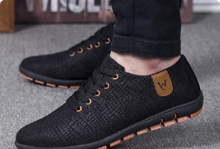 Spring and Summer Breathable Casual Lace Up Shoe for Men